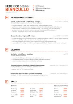 Great clean lines and slick header / structure of name on the top of this creative resume style.   Federico Cosimo Biancullo | Resume 2013 by Federico Cosimo Biancullo, via Behance