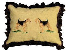 Airedale Decorative Pillow