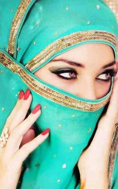 girl in cyan niqab with black eyes photos pictures styles hijab fashion beautiful women half images girlvalue photo Arabian Women, Arabian Beauty, Muslim Girls, Muslim Women, Beautiful Hijab, Beautiful Eyes, Gorgeous Women, Moslem, Colors