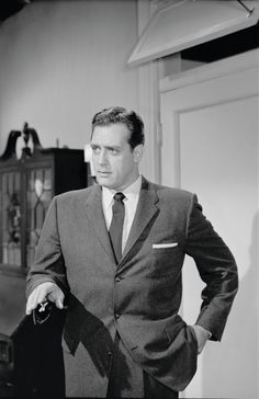 Raymond Burr  is a wild card in this category. You will have to see the clips from the Jack Benny show when he was a guest. He has comical skills.