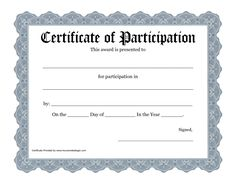 Blank training certificate template free training certificate certificate of participation template certificate of participation office templates free certificate of participation customize online print yadclub Images