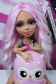 "OOAK / Face up Monter High Howleen ""Rose"" by RaquelClemente, via Flickr"