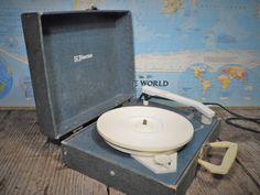Emerson Vintage Record Player Portable by OldSteamerTrunkJunk