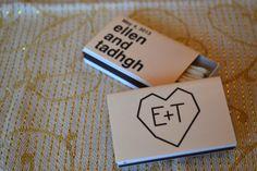 "200 Custom Wedding Favor Matchboxes - ""e + T Style"""