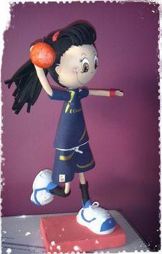 Jugadora Balonmano en Goma Eva Luigi, Snow White, Disney Characters, Fictional Characters, Disney Princess, Art, Handball, Jelly Beans, Glass