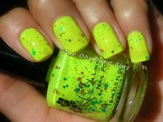 KBShimmer Blinded by the Bright a gorgeous neon yellow