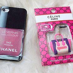 Chanel phone case, celine purse keychain! How cute!