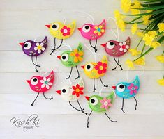 Velikonoční dekorace - ptáček