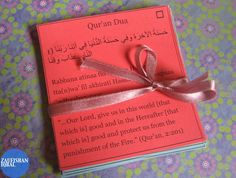 "Make Pocket-Size Quran Du`a Cards -- FREE download/printable thanks to sister Zaufishan, jazakallah khair! ....for more goodies check my ""islamic links"" pin board - Yara x"