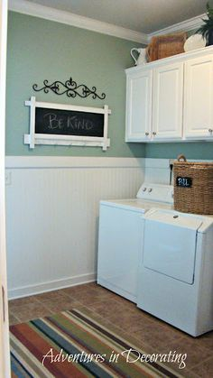High Waynes Coating Chalk Board In The Laundry Room