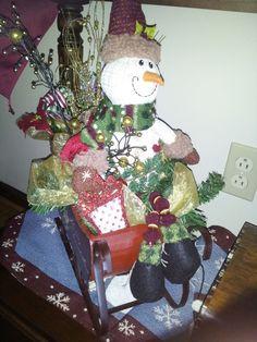 Snowman in Sleigh