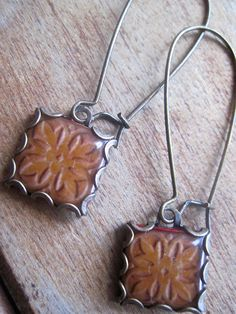 Old World Church tile earrings Celtic jewelry by ShrunkenCatHeads, $27.00
