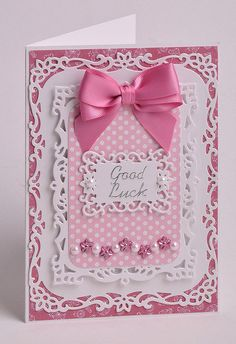 Good Luck Card made using Spellbinders Decorative Labels 8.