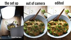 Food Photography Tips - Okay, I need to know this because my food pics are not so great and now I know why (well, I knew why, I just didn't know how to make them better).