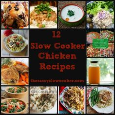 I love chicken and I love my slow cooker, so it was only right that I put together this great list of 12 chicken slow cooker recipes.