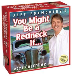 Each daily page in this calendar features a humorous redneck joke from Jeff Foxworthy, and the weekend pages feature a word and definition from his popular book, the Complete Redneck Dictionary. Hilarious, fun day-to-day calendar, that provides great amusement all year long. Great note to start the morning on. #calendar2021 #humor #funny #calendars Calendar 365, Calendar Pages, Book Club Books, Books To Read, Funny Calendars, Jeff Foxworthy, Jokes And Riddles, Major Holidays, Popular Books