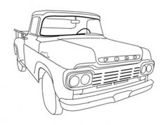 Old Ford Truck Coloring Pages Sketch Coloring Page Truck Coloring Pages, Online Coloring Pages, Colouring Pages, Adult Coloring Pages, Coloring Sheets, Coloring Books, Vintage Trucks, Old Trucks, Pickup Trucks