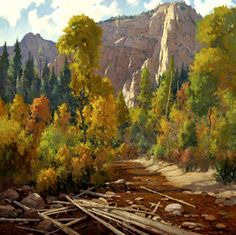 Para West, Oak Creek Canyon - aceite - 30 x 30