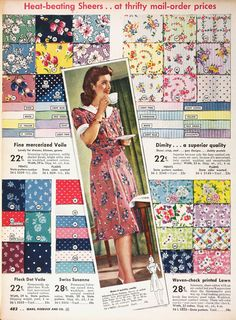 Johanna 1940's fabric print ideas