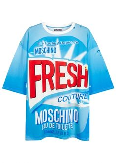 Oh Moschino with your luxed-up take on domestic iconography... just take my money already!