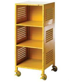 Locker Bedside Table (yellow)