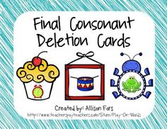 Printable final consonant deletion activity!