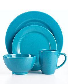 turquoise dinnerware from macy's
