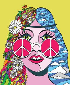 ☯☮ॐ American Hippie Psychedelic Art Peace Hippie Peace, Happy Hippie, Hippie Love, Hippie Chick, Psychedelic Art, Pop Art, Tachisme, Hippie Trippy, Estilo Hippie