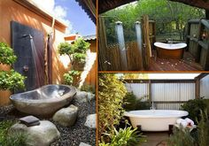 There's something wonderfully decadent about bathing outdoors. Have you thought about building an outdoor shower or bathroom? There are lots of heart-starters - from super simple to drop-dead gorgeous, on our site at http://theownerbuildernetwork.co/outdoor-showers/ Got an opinion on this? Why not COMMENT, LIKE and Share with your friends?