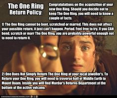 The One Ring Return Policy