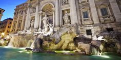 Trevi Fountain - Travertine stone
