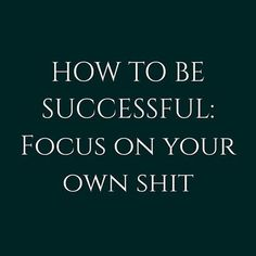 How to be Successful: