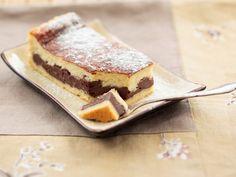 Für wahre Leckermäuler: Käsekuchen mit Schokopudding-Füllung | Zeit: 45 Min. | eatsmarter.de