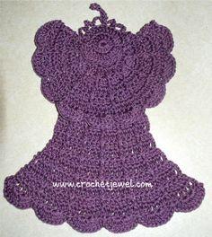 Free angel dishcloth pattern, Crochet Angel Dishcloth  