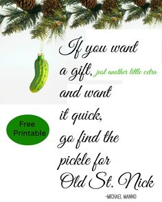 what is a christmas pickle ornament - Christmas Pickle Story