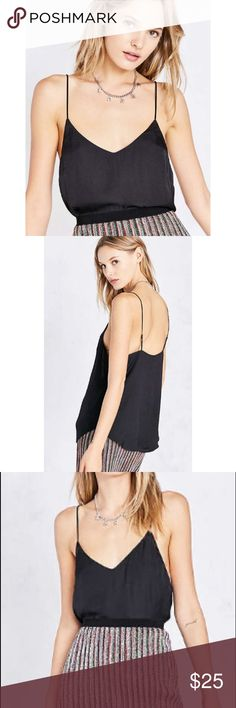 Silence + Noise Sky Satin Cami Black NWOT Silence + Noise Sky Satin Cami Black NWOT, size Medium. As new, without tags, great style for going out or layering under a cardi. Urban Outfitters Tops Camisoles