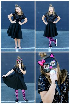 Easy Halloween Costu Easy Halloween Costumes For Tween Girls Best Diy Halloween Costumes, Easy Diy Costumes, Scary Costumes, Halloween Ideas, Costume Ideas, Halloween 2015, Halloween Stuff, Happy Halloween, Black Circle Skirts
