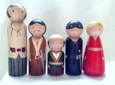 The Princess Bride Peg Doll Set by PeggedByGrace on Etsy, $65.00