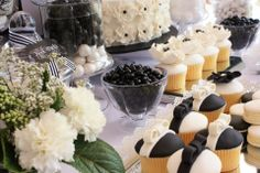 Black & White Dessert Table