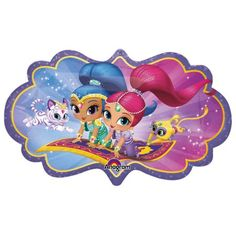 "Shimmer And Shine 27"" Shape Balloon - Party Supplies"