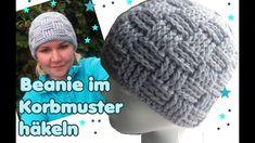 Mütze im Korbmuster häkeln - Beanie Basket Weave