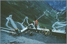 stelvio - one of the basilicas of cycling. Looking Forward, Outdoor Camping, Alps, Yamaha, Letting Go, We Heart It, To Go, Challenges, Bike