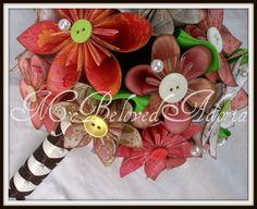 Bridesmaid paper origami wedding bouquet in by MyBelovedAdoria