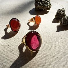 Tourmaline and Hessonite and Mandarin Garnet, oh my  new rings from the Rock Candy Collection by Ricardo Basta