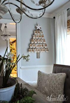 Wooden Tree Advent Calendar Tutorial  by Dear Lillie