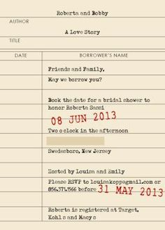 Lots of really great ideas/wording for invites, etc. here