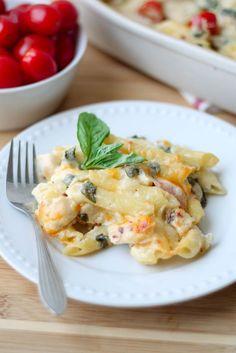 Creamy Garden Fresh Pasta Bake healthy gluten free