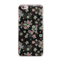 "Julia Grifol ""My Small Flowers"" Black Floral iPhone Case"