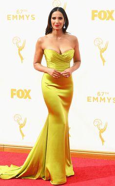 Padma Lakshmi Romona Keveza at the 2015 Emmys