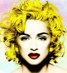 madonna images, image search, & inspiration to browse every day. Andy Warhol Pop Art, Madonna Art, Lady Madonna, Pop Art Portraits, Arte Pop, Cultura Pop, Mellow Yellow, Up Girl, Popular Culture